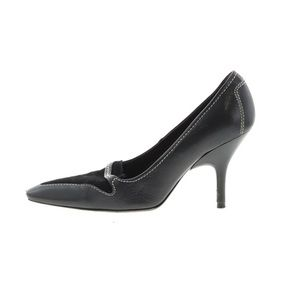 Tods Black Leather Pointed Toe Heels Pumps 6.5